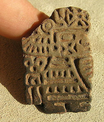 Precolumbian Pottery Stamp/aztec, 1400 A.d.