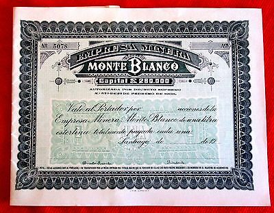 White Mountain Mining Co. Monte Blanco Empresa Minera Uncirculated Bond 1906 t2