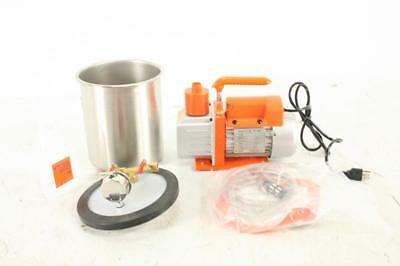 Shatter Vac 1.5 Gallon Vacuum Chamber with 3 CFM Single Stage Vacuum Pump Kit