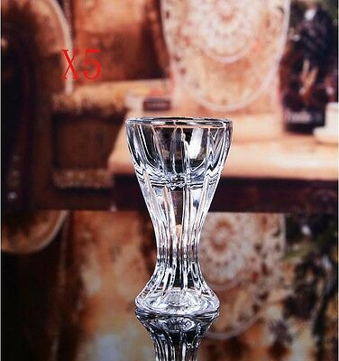 New 5X Capacity 15ML Height 70MM Transparent Small White Wine Glass/Glassware %