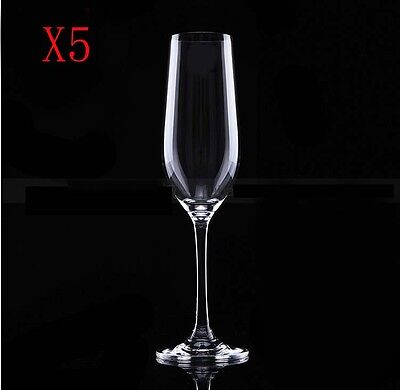 New 5X Capacity 235ML  Height  240MM  Transparent  Red Wine Glass/Glassware %