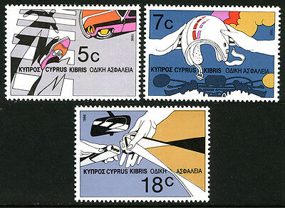 Cyprus 678-680, MNH. Road Safety, 1986
