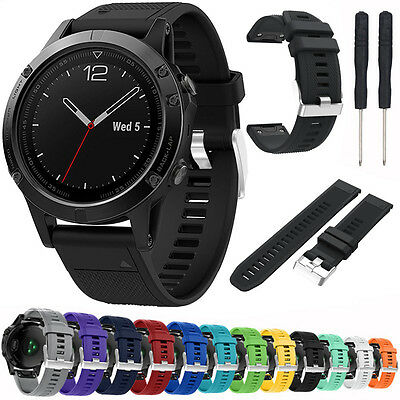 Silicone Watch Band Wristband Strap For Garmin Fenix 5/Forerunner 935 -12 Colors