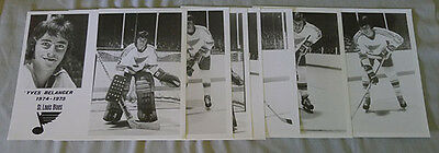 Lot of 7 NHL 1974 -75  St.Louis Blues Official Press Hockey Photos