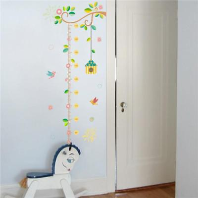 Branch Bird Height Chart Kids Room Wall Sticker Vinyl Decal Nursery Decor DIY LG