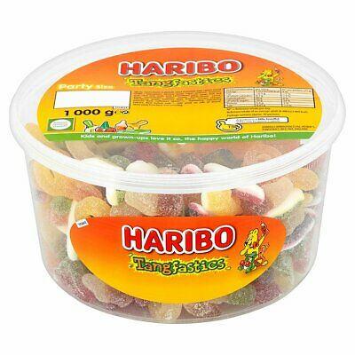 HARIBO TANGFASTICS SWEETS 1 or 2 TUBS BOX PARTY FAVOURS TREATS DISCOUNT CANDY