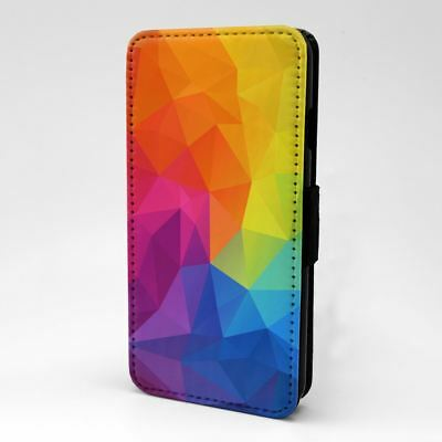 Rainbow Patterns Abstract Geometric Flip Case Cover For Apple iPod - S1092