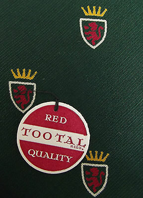 RED LION Tootal tie Green cotton RED QUALITY Unused vintage stock with tags