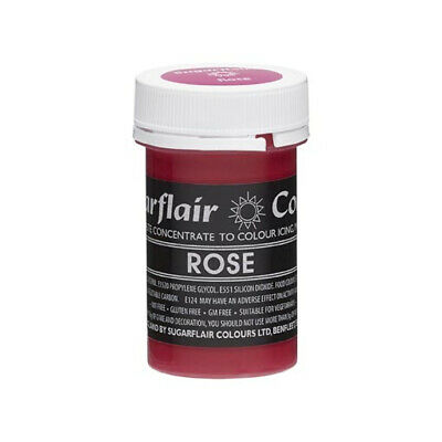 Sugarflair ROSE Red Pink Pastel Paste Gel Edible Concentrated Food Colouring