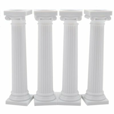 "Wilton 4pk 5"" Grecian Pillars Tiered Support Wedding Cake Separator Stand"