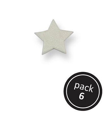 PME Small Pearl Wireless Star Cup Cake Icing Edible Sugarcraft Decoration 6 Pack