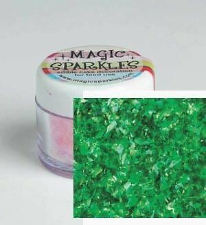 Magic Sparkles Green EDIBLE Cake Cupcake Decorating Glitter Party Celebration