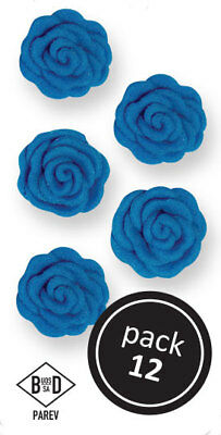 PME BLUE Cupid Roses Floral Flowers Icing Sugar Cup Cake Decorations Pack of 12