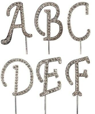 Diamante Cake Topper Alphabet Letters Birthday Anniversary Sugarcraft Decoration