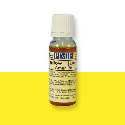 PME YELLOW Edible Airbrush Spray Colour 25g Icing Cake Sugarpaste Decoration
