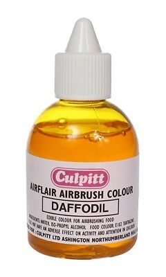 Culpitt DAFFODIL YELLOW Edible Airbrush Spray Colour Icing Sugarpaste Decoration