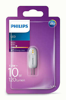 Philips LED 1.2W - 10W G4 Capsule Light Bulb A++ 120lm 12v Warm White 2700K