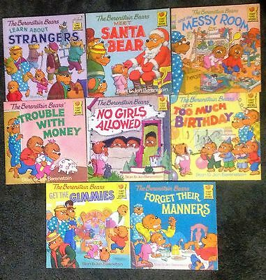 The Berenstein Bears Lot of 8 Books - 1983 to 1988 - Illustrated