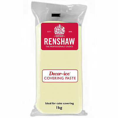Ivory Covering Paste Renshaw Ready To Roll Cake Icing Fondant Regalice 1kg