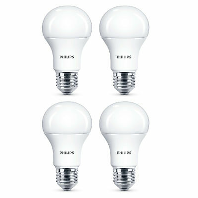 4 x Philips LED Frosted GLS E27 Edison Screw 75W Cool Daylight Light Bulb 1055Lm