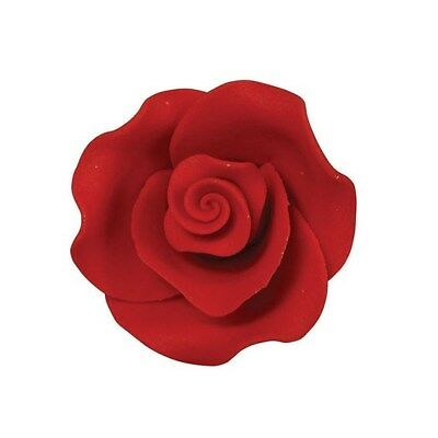 Culpitt  RED 38mm M Edible Sugar Soft Roses Wedding Cup Cake Icing Decoration
