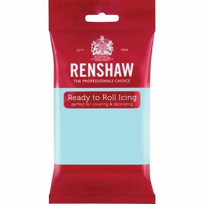 Renshaw Ready Roll Icing Fondant Cake Regalice Sugarpaste 250g DUCK EGG BLUE