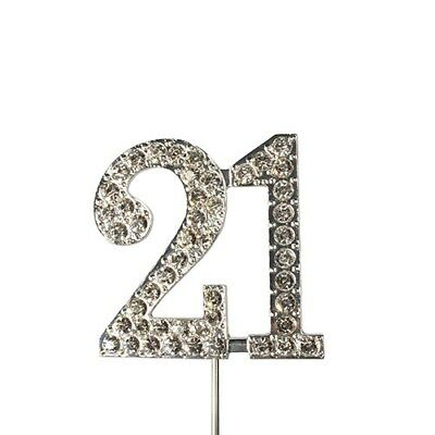 Culpitt 21 DIAMANTE NUMBER Topper Wedding Anniversary Birthday Cake Decorations
