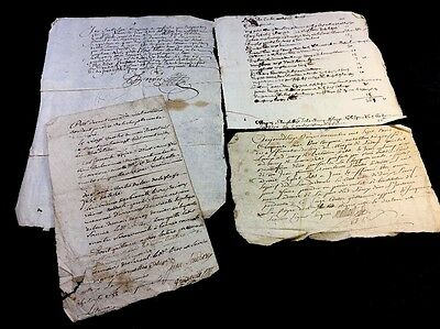 LOT OF FOUR DOCUMENTS 1600-1700s