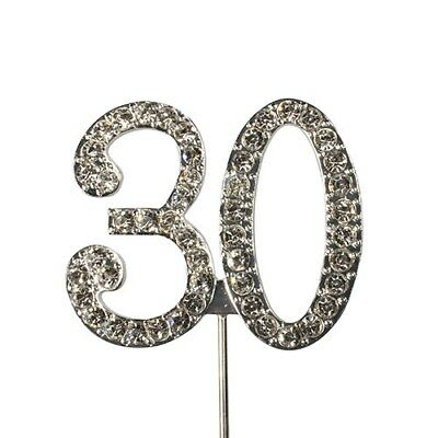 Culpitt 30 DIAMANTE NUMBER Topper Wedding Anniversary Birthday Cake Decorations