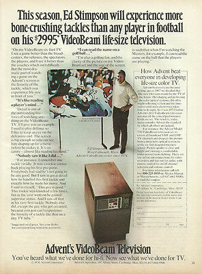 1978 vintage ad, Advent VideoBeam Television. early TV projection - 071713