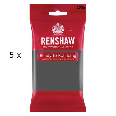 1.25 Kg Renshaw Ready To Roll Icing Fondant Cake Regalice Sugarpaste GREY