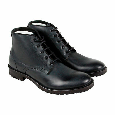 GBX Brasco Mens Gray Leather Casual Dress Lace Up Boots Shoes