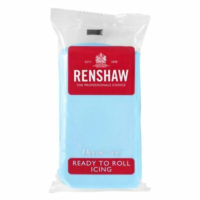 Baby Blue Renshaw Ready To Roll Icing Fondant Cake Regalice Sugarpaste 2.5kg