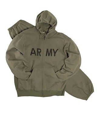 "US Jogging-Kapuzenjacke ""Army"" oliv, Camping, Outdoor, Military         -NEU-"