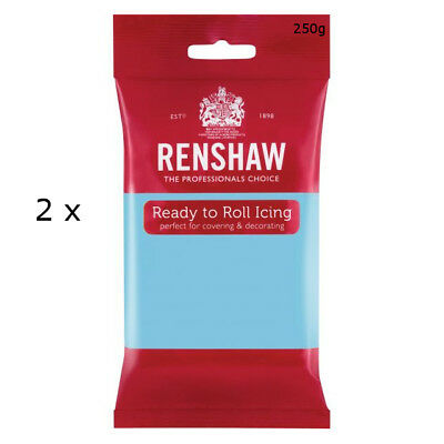 500g Renshaw Ready To Roll Icing Fondant Cake Regalice Sugarpaste BABY BLUE