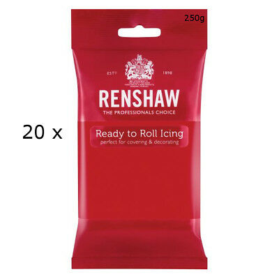 5 Kg Renshaw Ready To Roll Icing Fondant Cake Regalice Sugarpaste POPPY RED