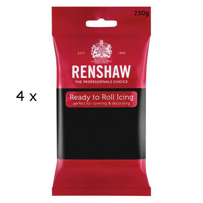 1 Kg Renshaw Ready To Roll Icing Fondant Cake Regalice Sugarpaste JET BLACK