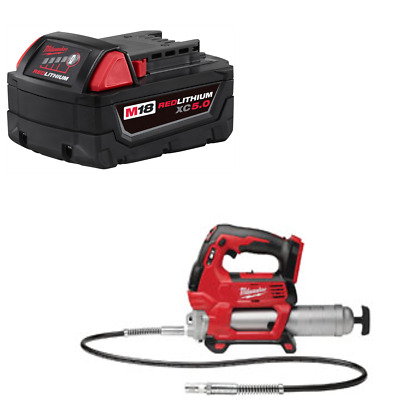 Milwaukee M18 18V Cordless 2-Speed Grease Gun Bare Tool 2646-20 w/ 5.0 Battery