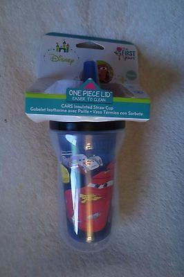 The First Years Sippy Cup Disney Cars Toddler 9 oz Red/Blue New