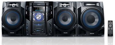Philips FWM608 600W Subwoofer Mini Hi Fi System + MP3 4 Iphone *With Faults*