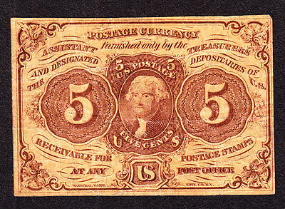 """US 5c Fractional Currency w/""""ABC"""" 1st Issue FR 1230 VF (-001)"""