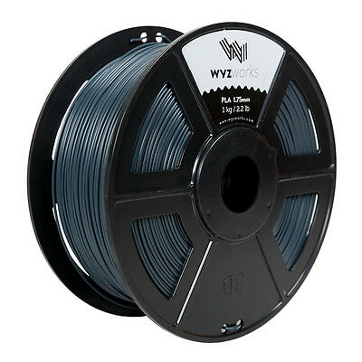 WYZwork 3D Printer Premium PLA Filament 1.75mm 1kg/2.2lb - Blue Grey