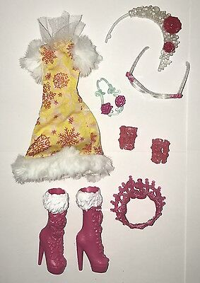 Ever After High Epic Winter Rosabella Beauty Doll Outfit Clothes Dress Shoes NEW