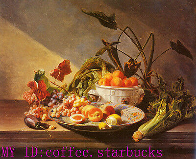 """Art Repro oil painting:""""Fruit And Vegetables On Canvas"""" 24x36 Inch"""