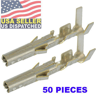Molex  39-00-0039  24-18AWG Female Crimp Terminals Mini-Fit Jr (Pack 50)