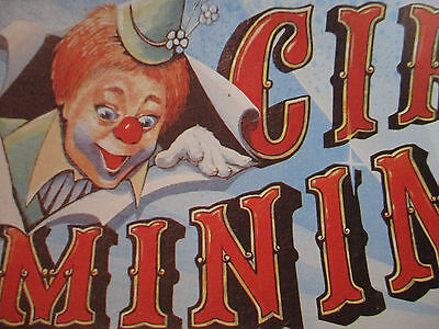 Circus Poster Lot Vintage Original Graphic Clown Text Foreign Europe