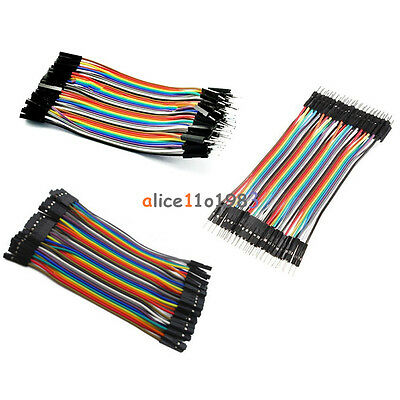 40PCS Male Female Dupont wire cables jumpers 10CM 2.54MM  1P-1P For Arduino