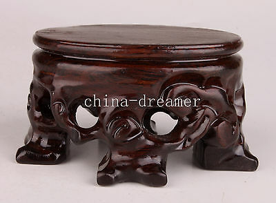 Wood Exquisite High-Grade Snuff Bottle Display Base Stand Collectable