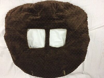 Monkey Brown Minky Dot Shopping Cart Cover Excellent Condition!!