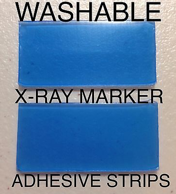 Set X-Ray Marker WASHABLE Adhesive Strips FREE SHIPPING Lead xray